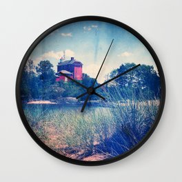 Vintage Great Lakes Lighthouse Wall Clock