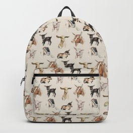 Vintage Goat All-Over Fabric Print Backpack