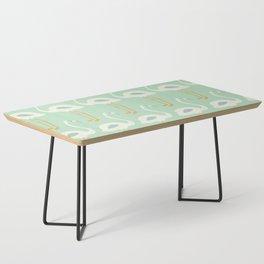 Flamingo Mint Pattern 004 Coffee Table