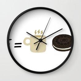 E= mc2 oreos version Wall Clock