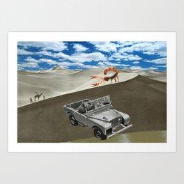 Roving the Sahara  Art Print