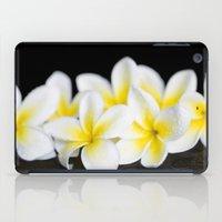singapore iPad Cases featuring Plumeria obtusa Singapore White by Sharon Mau