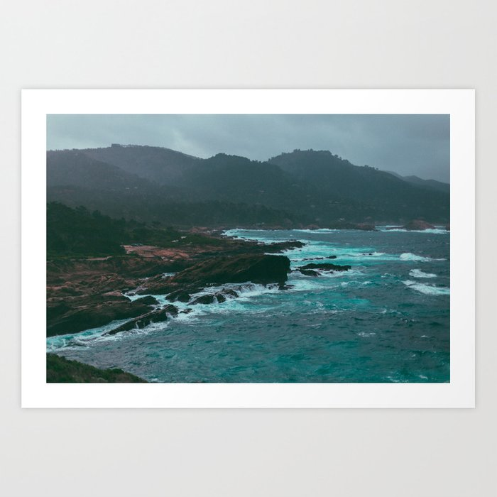 Big Sur Rocky Shore Art Print