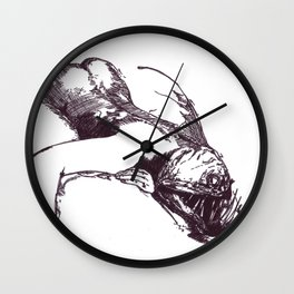 Pity for Fish Wall Clock