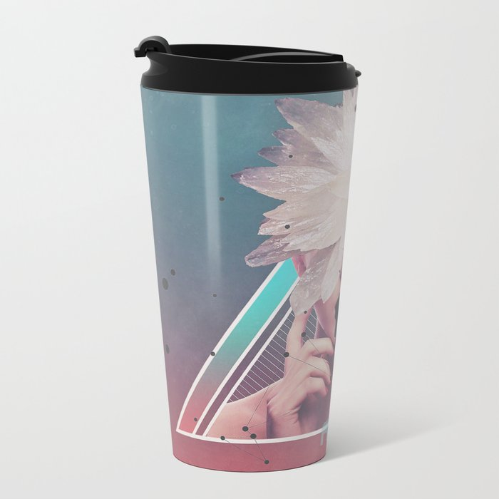 dark flower Metal Travel Mug