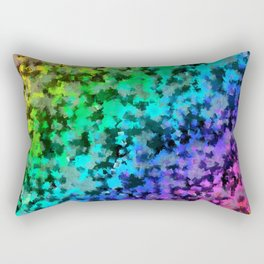 Starrider -- Abstract cubist color expansion Rectangular Pillow