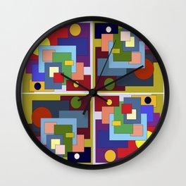 Geometric seamless pattern pink geometric pattern. Wall Clock