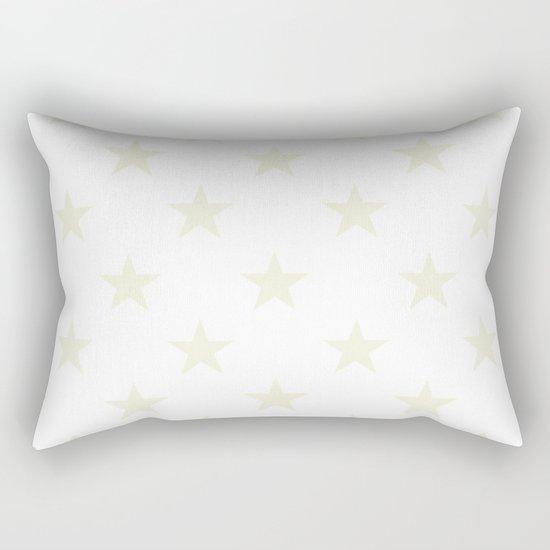 Stars (Beige/White) Rectangular Pillow