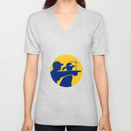 Caddie and Golfer Icon Unisex V-Neck