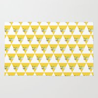 cycling Area & Throw Rugs featuring Cycling Polar Bear Triangle by Doucette Designs