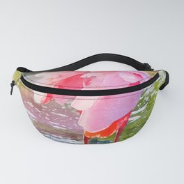 Roseate Spoonbill Preening Feathers Watercolor Fanny Pack
