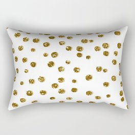 Gold Glitter Confetti Rectangular Pillow