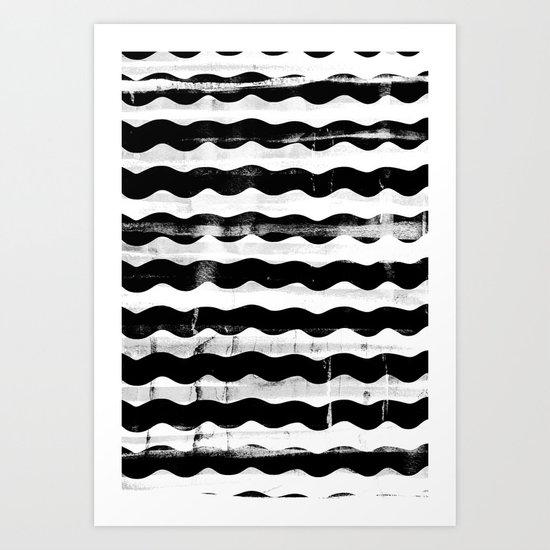 Black Waves Art Print