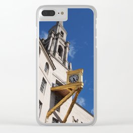 clock and tower - leeds Clear iPhone Case