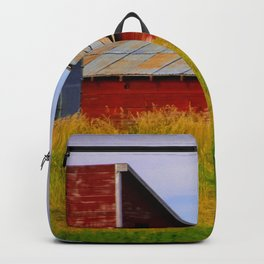 Norway Fishing Village Backpack