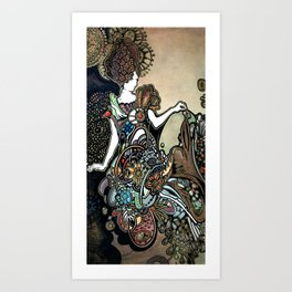 Jeweled Mermaid Art Print