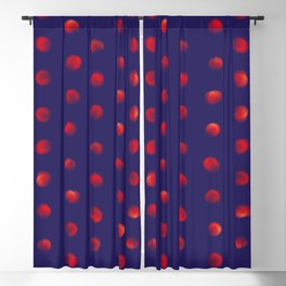 Total eclipse of the polka dot Blackout Curtain
