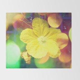 Secret Garden   Cucumber flower Throw Blanket