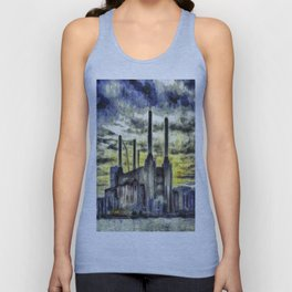 Battersea Power Station Art Unisex Tank Top