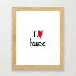 I heart you Framed Art Print