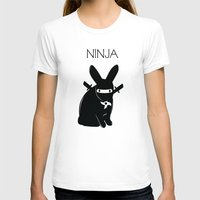 ninja T-shirts featuring NINJA by RAGING BUNNIES