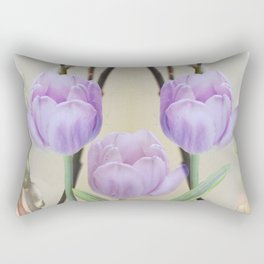 Artistic Pastel Spring Tulips Rectangular Pillow