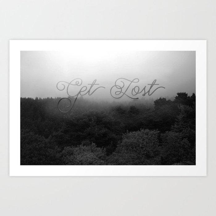 Get Lost Art Print