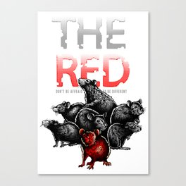 The Red Rat - be different Canvas Print