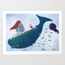 Ponyo fanart Art Print