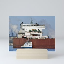 Edgar B Speer Freighter and Ojibway Mini Art Print
