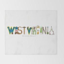 West Virginia - Morgantown Throw Blanket