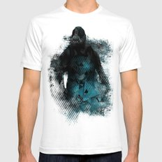 Abstract BANE SMALL White Mens Fitted Tee