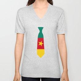 Cameroon Patriotic Tie T Shirt Unisex V-Neck
