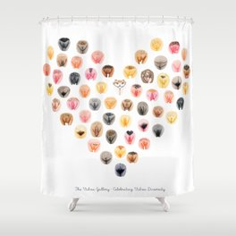 Vulva Heart - The Vulva Gallery Shower Curtain