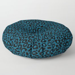 Teal Leopard Animal Pattern Floor Pillow