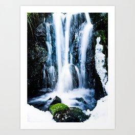 Early Spring Waterfall Art Print