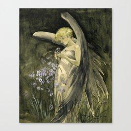 Fairy in Irises Canvas Print