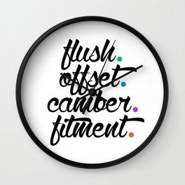 flush offset camber fitment v5 HQvector Wall Clock