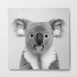 Koala 2 - Black & White Metal Print