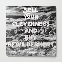 Cleverness & Bewilderment Metal Print