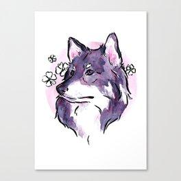 Purple Wolf Canvas Print