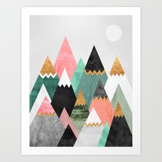 Pretty Mountains Art Print