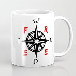 Wild And Free Compass Coffee Mug