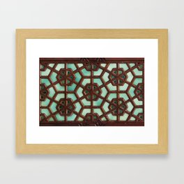 Turquoise orient Framed Art Print