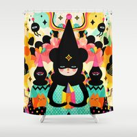 friends Shower Curtains featuring Magical Friends by Muxxi