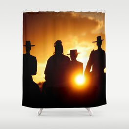 Golden pilgrims Shower Curtain