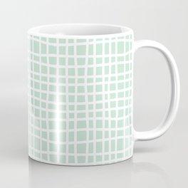 edgewater mint random cross hatch lines checker pattern Coffee Mug
