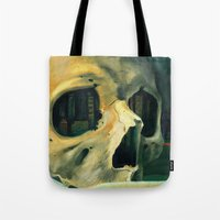 oil Tote Bags featuring Civilizations Oil Painting by Thubakabra