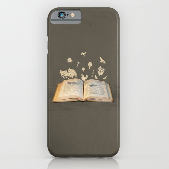 Words Take Flight (on Grey) iPhone & iPod Case