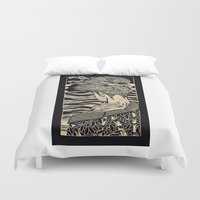 geisha Duvet Covers featuring Geisha by Mario Sayavedra